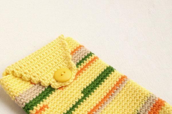 crochet Galaxy note case / funda Galaxy note ganchillo