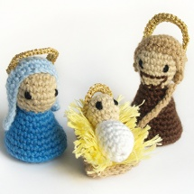 crochet nativity scene / belen de ganchillo