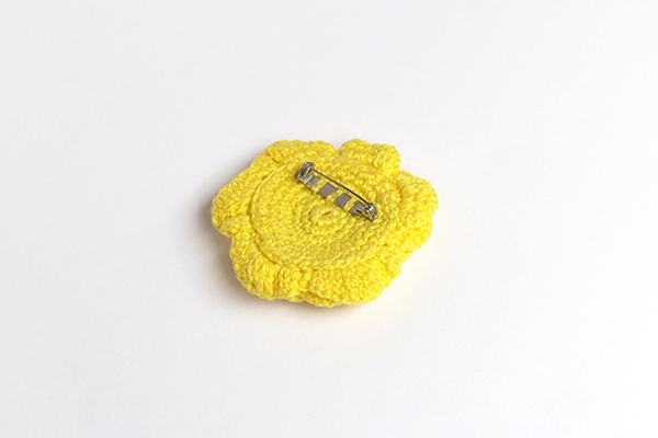 flor amarilla broche yellow flower brooch