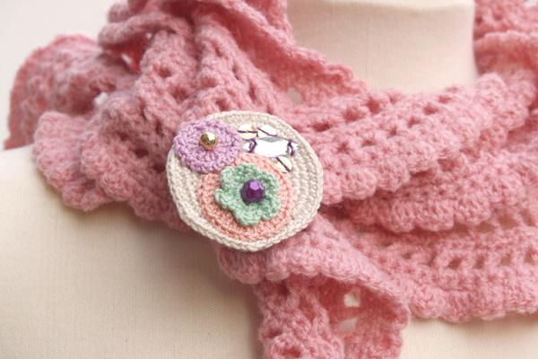 bufanda rosa
