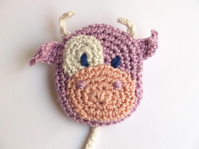 Amigurumi Vaca : Cow amigurumi in a pacifier clip u silayaya