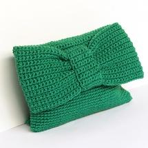 bolso verde con lazo
