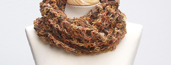 cuello marron / brown snood scarf