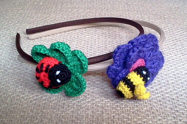 diadema mariquita y abeja / ladybug and bee headband