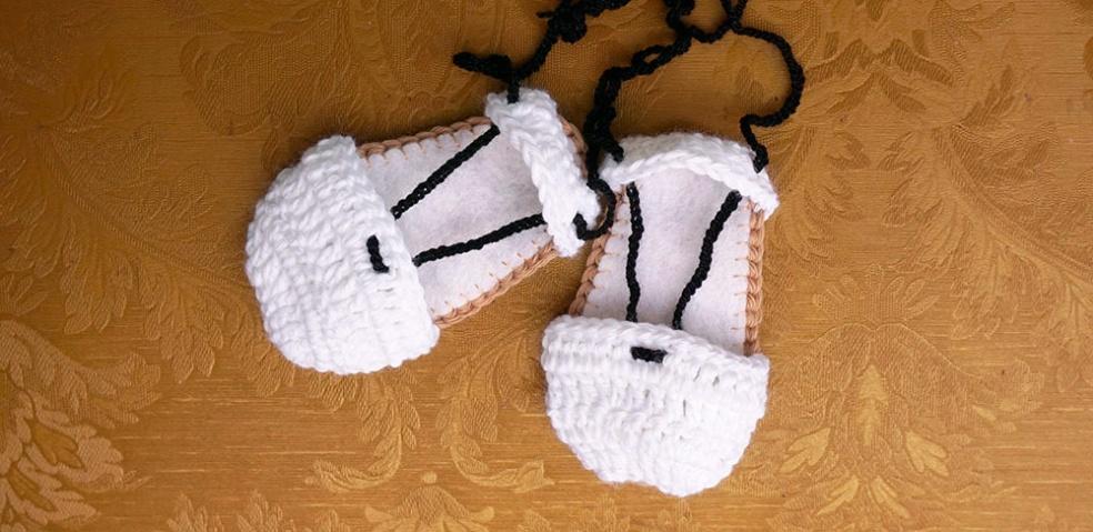 espardenyes ganchillo para bebé indumentaria valenciana para falleros