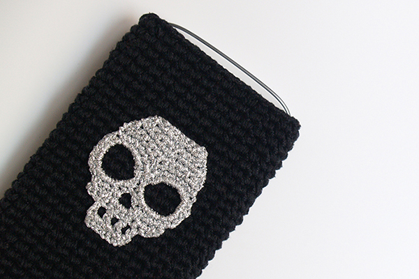 funda movil calavera