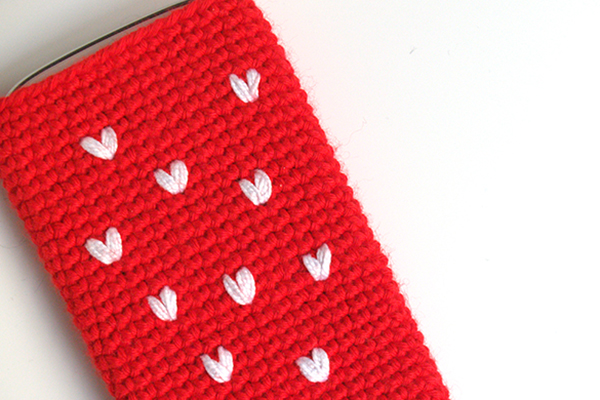 love funda ganchillo crochet case
