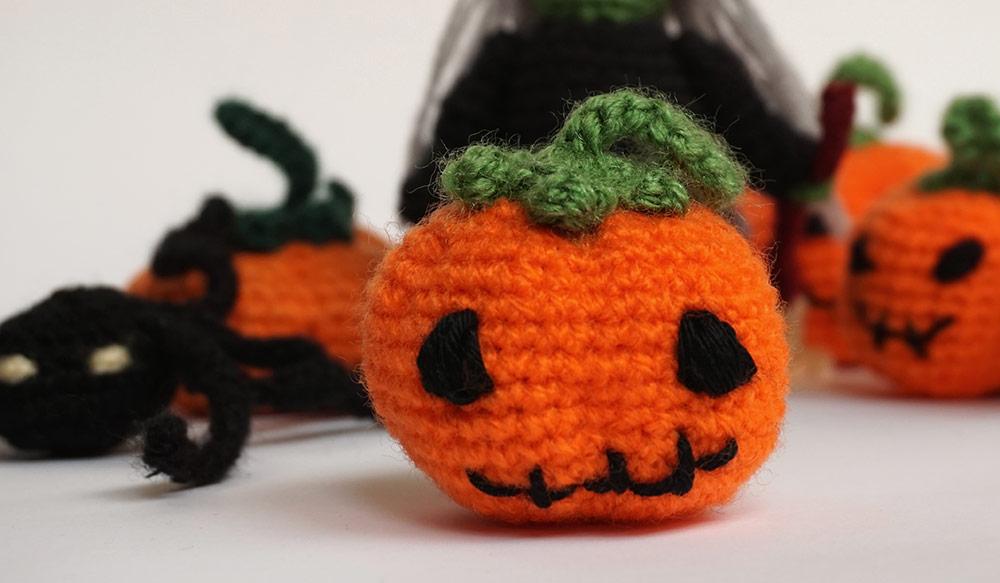 Amigurumi Halloween : Amigurumis para Halloween, bruja, arana, gato y calabazas ...