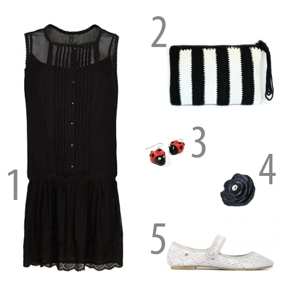 outfit blanco negro