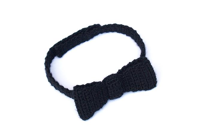 pajarita de ganchillo crochet bow tie