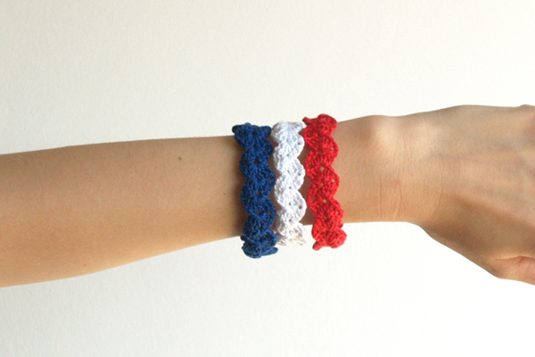 pulsera bandera de francia / france flag bracelet