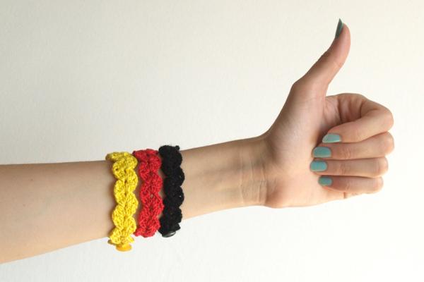 pulsera bandera de alemania / german flag bracelet