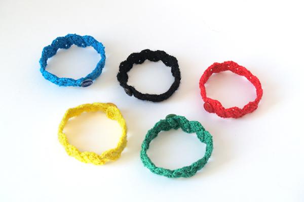 pulsera aros olimpicos / olympic rings bracelet