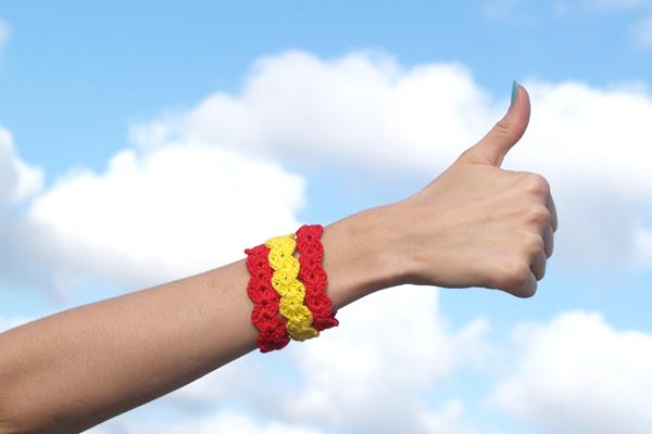 pulsera bandera de españa / spanish flag bracelet