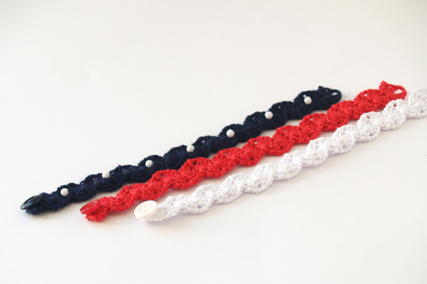 pulsera bandera de estados unidos de america / USA flag bracelet