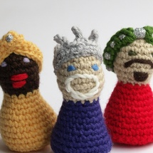 reyes magos ganchillo / crochet three wise men