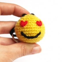crochet smiley ganchillo