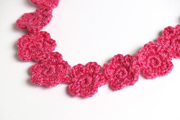 cinta de ganchillo fucsia fuchsia crochet headband